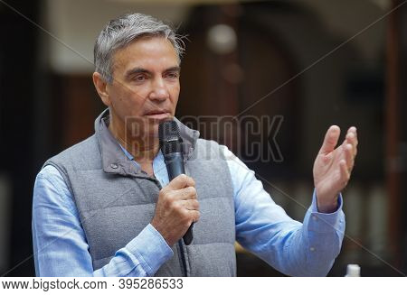 Bucharest, Romania - June 01, 2020: Dragos Anastasiu The President Of The Romanian-german Chamber Of