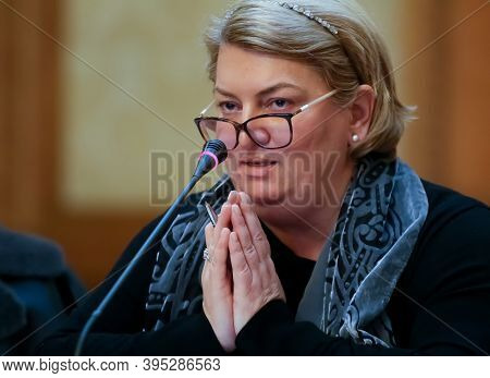 Bucharest, Romania - November 27, 2019: Doina Gradea, President - General Director Of The Romanian T