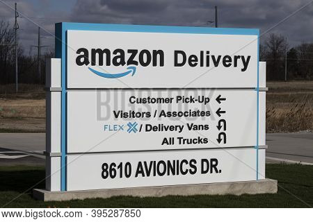 Ft. Wayne - Circa November 2020: Amazon.com Delivery Center. Amazon Is The Largest Internet-based Re