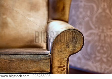 Old sofa with soft cushions