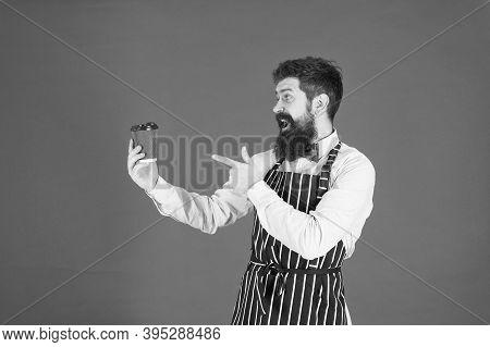 Delicious Cappuccino. Restaurant Staff. Hipster Professional Barista Apron Uniform. Waiter Bartender