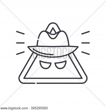 Spyware Software Icon, Linear Isolated Illustration, Thin Line Vector, Web Design Sign, Outline Conc