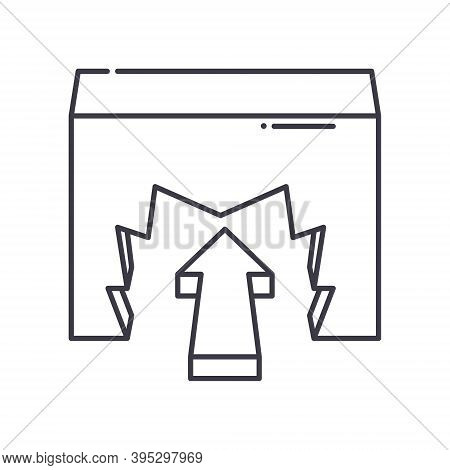 To Overcome Icon, Linear Isolated Illustration, Thin Line Vector, Web Design Sign, Outline Concept S