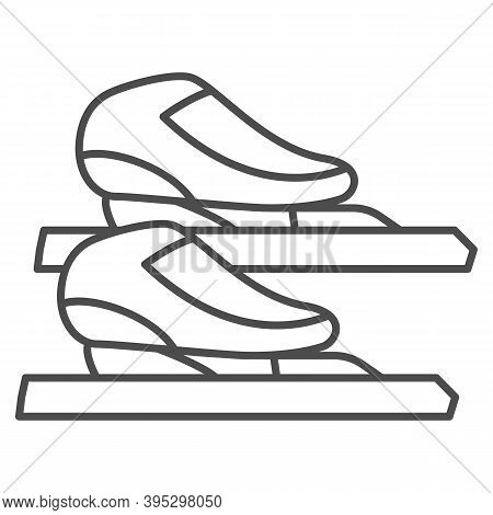 Skater Skates Thin Line Icon, Winter Sport Concept, Skating Sign On White Background, Figure Skates