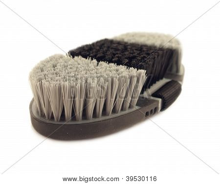 Soft Brush  Black And Grey For Grooming Horses