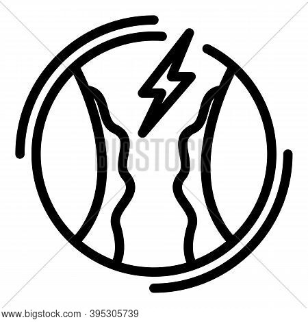Digestive Tonsillitis Icon. Outline Digestive Tonsillitis Vector Icon For Web Design Isolated On Whi