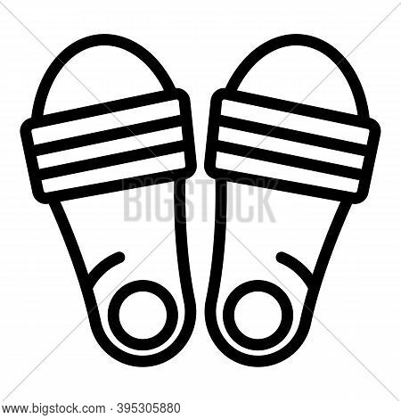 Accessory Sandals Icon. Outline Accessory Sandals Vector Icon For Web Design Isolated On White Backg
