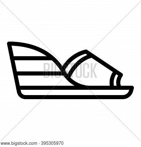 Wood Sandals Icon. Outline Wood Sandals Vector Icon For Web Design Isolated On White Background
