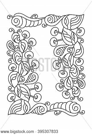 Coloring Book Pages For Adults And Children. Vector Hand Drawn Cartoon Doodle Illustration. Abstract