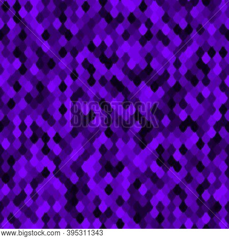Abstract Scale Pattern. Color Squama Texture. Bright Sapphire Seamless Pattern