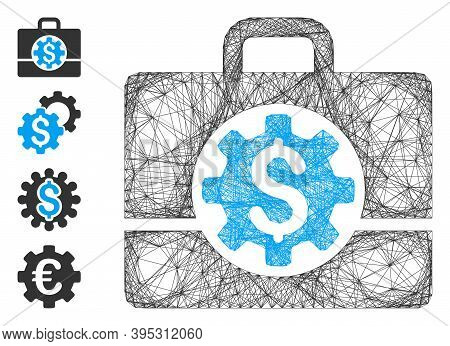 Vector Network Bank Career Options. Geometric Wire Frame Flat Network Made From Bank Career Options