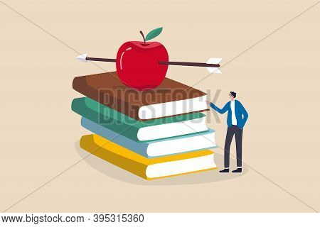 Knowledge, Education, Academic And Scholarship Concept, Smart Teacher Or Professor Waiting To Teachi