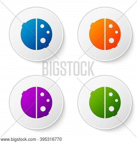 Color Eclipse Of The Sun Icon Isolated On White Background. Total Sonar Eclipse. Set Icons In Circle