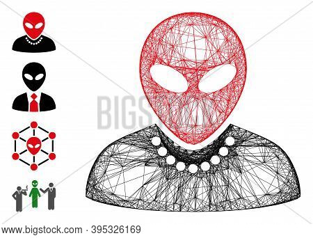 Vector Wire Frame Humanoid. Geometric Wire Frame 2d Net Based On Humanoid Icon, Designed From Crosse