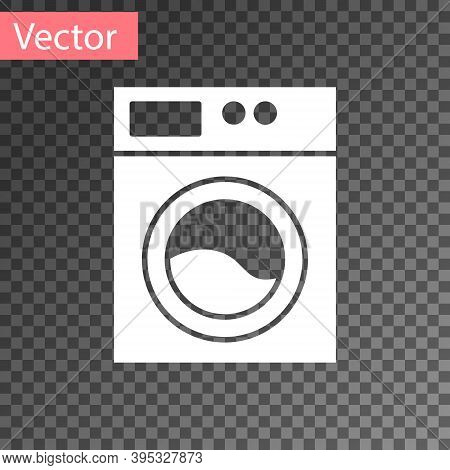 White Washer Icon Isolated On Transparent Background. Washing Machine Icon. Clothes Washer - Laundry