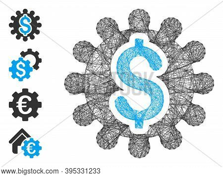 Vector Wire Frame Payment Options Cog. Geometric Wire Frame Flat Net Based On Payment Options Cog Ic