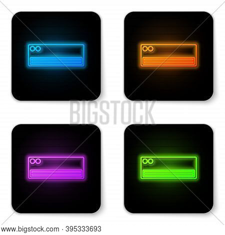 Glowing Neon Air Conditioner Icon Isolated On White Background. Split System Air Conditioning. Cool