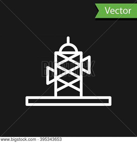 Grey Antenna Icon Isolated On Beige Background. Radio Antenna Wireless. Technology And Network Signa