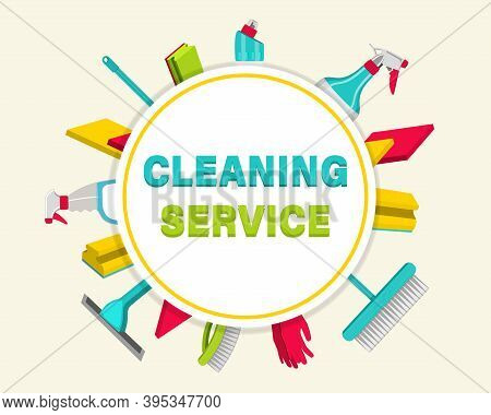 Household Items For Cleaning. House Cleaning Service For Apartments, Residential Homes And Commercia