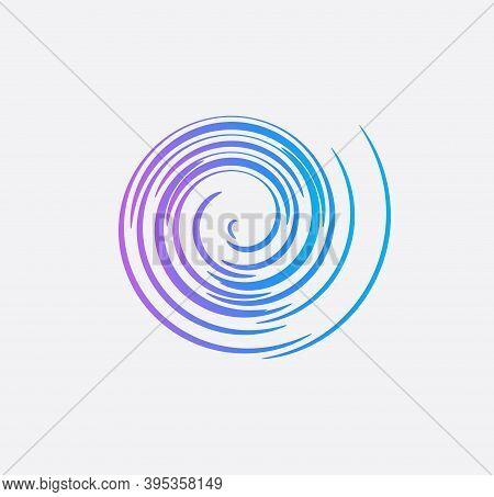 Hurricane Icon, Tornado Vector Illustration, Typhoon Symbol For News Infographics, Twisting Abstract