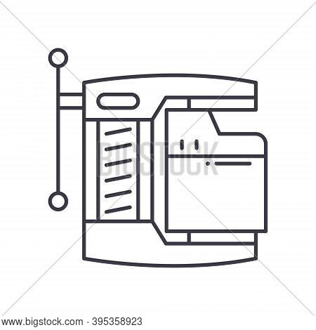 Compressed File Icon, Linear Isolated Illustration, Thin Line Vector, Web Design Sign, Outline Conce