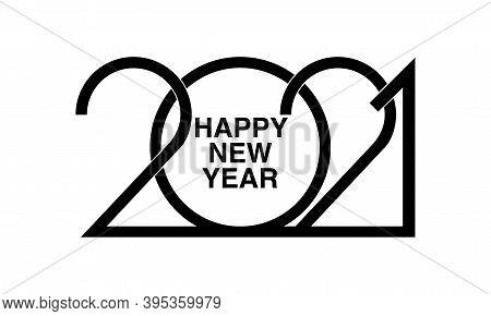 Happy New Year 2021 Logo Text Design.  Brochure Design Template, Card, Banner. Vector Illustration O