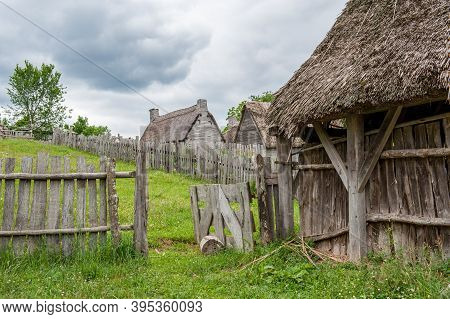 Plymouth, Ma, Usa - June 17, 2010: Plimoth Plantation In Plymouth. This Open-air Museum Replicates T