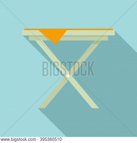Folding Iron Board Icon. Flat Illustration Of Folding Iron Board Vector Icon For Web Design
