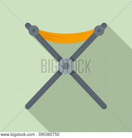 Folding Textile Furniture Icon. Flat Illustration Of Folding Textile Furniture Vector Icon For Web D