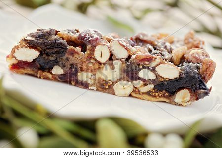 Christmas cake panforte - full of sweetmeats - sweet food