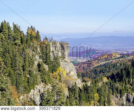 The Black Rock Near The High-mountain Resort Of Borovets In Rila Mountain, Bulgaria. From Here Durin