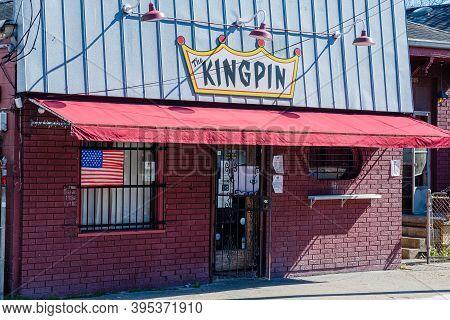 New Orleans, La - November 12: Entrance To The Landmark Uptown Neighborhood Bar, The Kingpin, On Nov