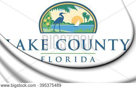 3d Flag Of Lake County (florida), Usa. 3d Illustration.
