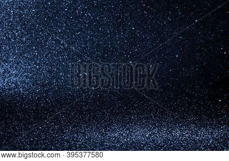 Abstract Bokeh Dark Blue With Light Background.navy Blue Color Night Light Elegance,smooth Backdrop,
