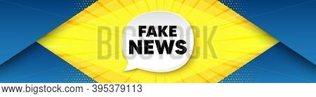 Fake News Symbol. Background With Offer Speech Bubble. Media Newspaper Sign. Daily Information. Best