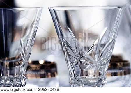 Crystal Glasses As Luxury Table Glassware And Bohemian Glass Design, Home Decor And Event Decoration
