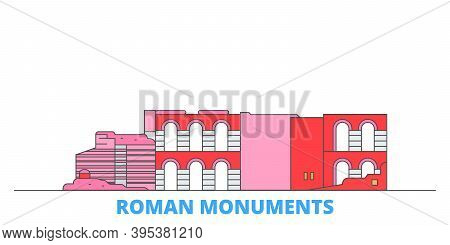 Germany, Trier, Roman Monuments, Cathedral Of St. Peter And Church Of Our Lady Line Cityscape, Flat