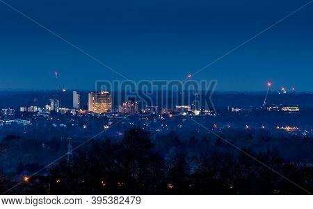 Woking, Surrey, Uk - 19th January 2018: A View Of The Woking Town Centre Skyline Prior To The Extens