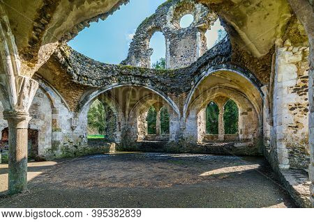 The Spectacular Ruins Of The Cistercian Waverley Abbey Founded In 1128 Near Farnham, Surrey