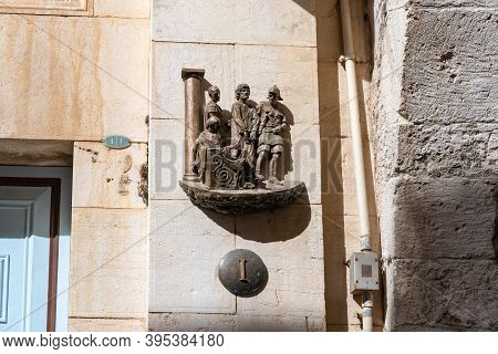 Jerusalem, Israel, October 24, 2020 : The First Stations Of The Way Of The Cross On Via Dolorosa Str