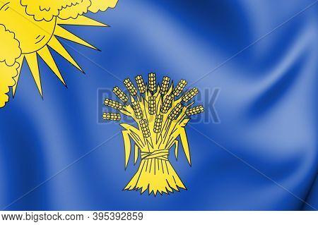 3d Flag Of Reusel-de Mierden (north Brabant), Netherlands. 3d Illustration.