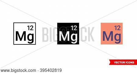 Magnesium Icon Of 3 Types Color, Black And White, Outline. Isolated Vector Sign Symbol.