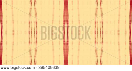 Summer Tartan Pattern. Watercolor Check Border. Woven Stripes For Fabric Print. Seamless Orange Tart