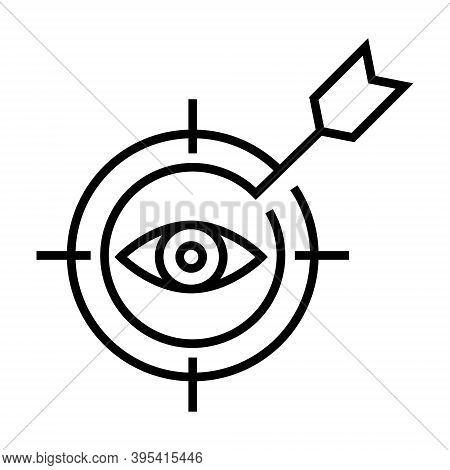 Goal Seeking Icon. Target, Aim Symbol. Line Design For Business Concept.