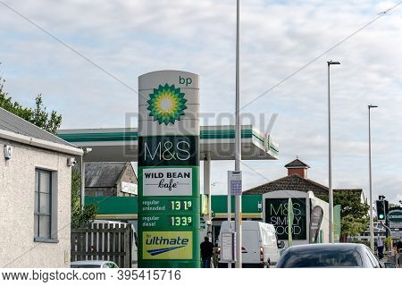Inverness, Scotland - August 8, 2019: The Bp Gas Station In Inverness, Scotland, Uk Selling Regular
