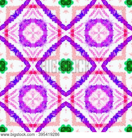 Azulejos Pattern. Traditional Ethnic Ornament. Colorful And Red. Geometric Vintage Ceramic. Handmade
