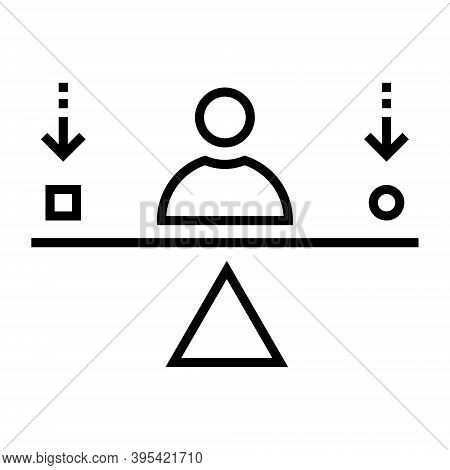 Self-actualization Icon In Line Style. Personal Development Sign.