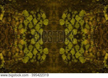 Seamless Predator Pattern. Cobra Reptile Animal Print. Exotic Fashion Wallpaper. Yellow, Brown And G