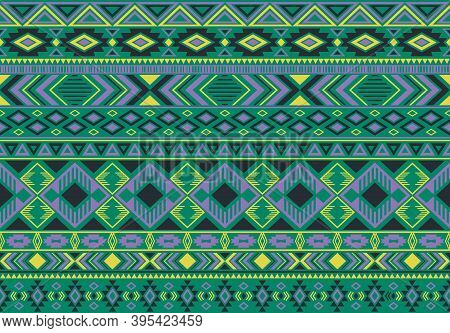 Indian Pattern Tribal Ethnic Motifs Geometric Seamless Vector Background. Abstract Boho Tribal Motif