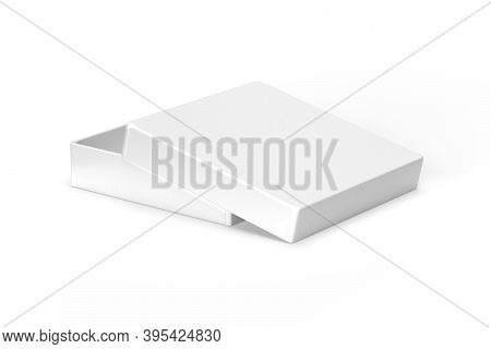 Open Box Mockup Isolated On White Background - 3d Render